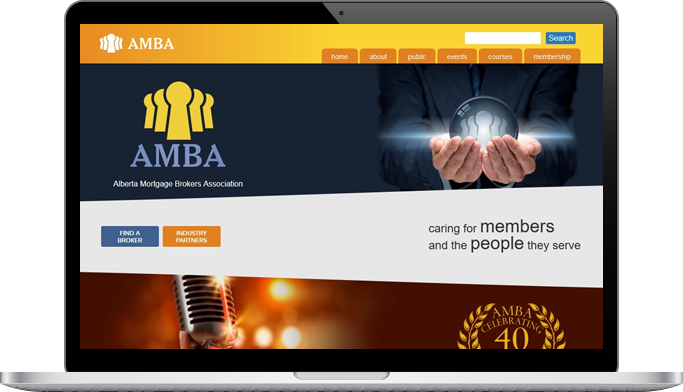 AMBA website design