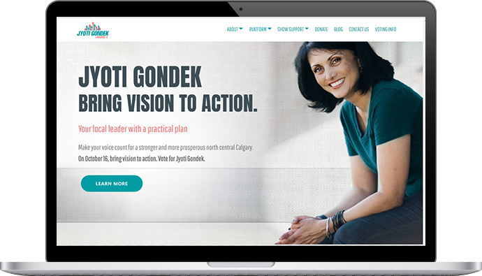 Jyoti Gondek website design